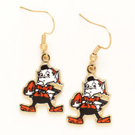 Cleveland Browns Mascot Dangle Earrings NFL