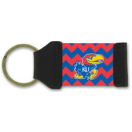 University Of Kansas Chevron Keychain