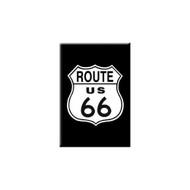 Black Route 6 Refrigerator Magnet