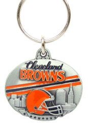 Cleveland Browns Pewter Oval Keychain