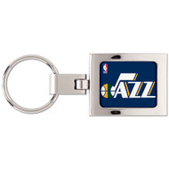 Utah Jazz Domed Metal Key Chain