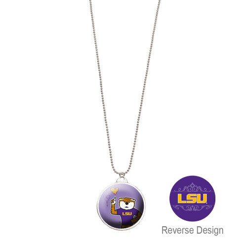Louisiana State LSU Double Dome Necklace