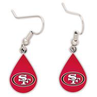 San Francisco 49ers Tear Drop Earrings