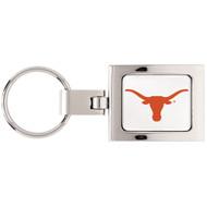 University Of Texas Domed Metal Keychain