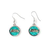 Seattle Seahawks Glitter Dangle Earrings