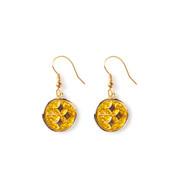 Pittsburgh Steelers Glitter Dangle Earrings