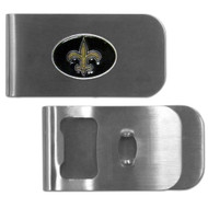 New Orleans Saints Money Clip Bottle Opener