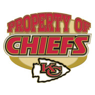 Kansas City Chiefs Property Of Cloisonne Pin