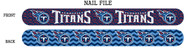 Tennessee Titans Nail File