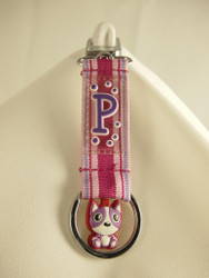 Letter P Key Pals Keyring Strap