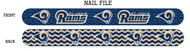 St. Louis Rams Nail File