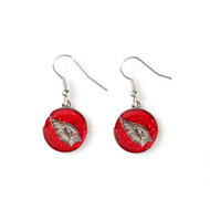 Arizona Cardinals Glitter Dangle Earrings