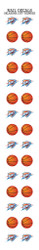 Oklahoma City Thunder Nail Sticker Decals