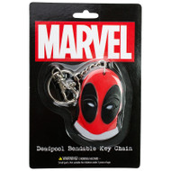 Deadpool Face Bendable Keychain