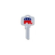 Republican GOP Kwikset KW1 House Key