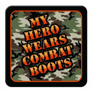 My Hero Wears Combat Boots Coaster Set