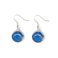 San Diego Chargers Glitter Dangle Earrings