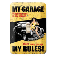 My Garage My Rules Metal Switch Plate Cover