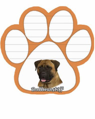 Bullmastiff Dog Paw Magnetic Note Pad