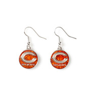 Chicago Bears Glitter Dangle Earrings