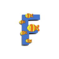Wooden Fish Letter F Magnet by The Toy Workshop