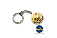 Georgia Tech  Double Domed Keychain