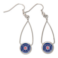 Chicago Fire French Loop Earrings