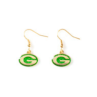 Green Bay Packers Glitter Dangle Earrings
