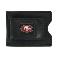 San Francisco 49ers Leather Money Clip and Card Case