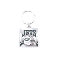 New York Jets Pewter Square Keychain