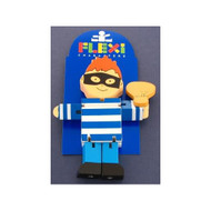 Wooden Robber Flexi Character by The Toy Workshop