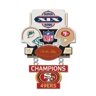 Super Bowl XIX (19) Dolphins vs. 49ers Champion Lapel Pin