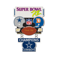 Super Bowl XII (12) Cowboys vs. Broncos Champion Lapel Pin