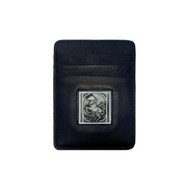 Rearing Horse Leather Money Clip Cardholder