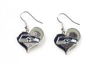 Seattle Seahawks Swirl Heart Earrings (2 Pack)