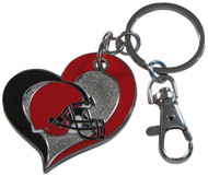 Cleveland Browns Swirl Heart Keychain