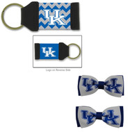 University of Kentucky Hair Bow Pair and Chevron Keychain