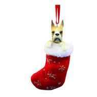 Santa's Little Pals Boxer Stocking Christmas Ornament