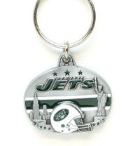 New York Jets Pewter Oval Keychain