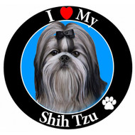 I Love My Black and White Shih Tzu Magnet