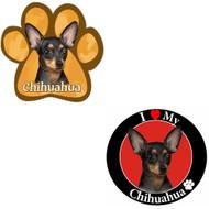 Bundle: Two (2) Black Chihuahua Magnets