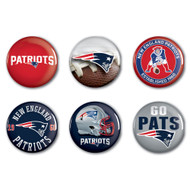 New England Patriots Buttons 6-Pack