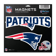 "New England Patriots 11""x11"" Car Magnet Set"