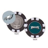 Philadelphia Eagles Poker Chip Golf Ball Marker