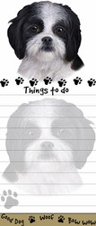 Black Shih Tzu Puppy Magnetic Sticky Note Pad
