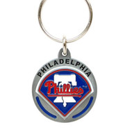 Philadelphia Phillies Zinc Team Logo Keychain