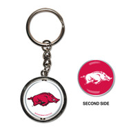 University of Arkansas Spinner Keychain (WC)