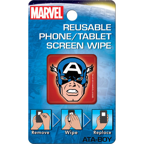 Captain America Reusable Phone/Tablet Screen Wipe