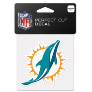 "Miami Dolphins 4""x4"" Team Logo Decal"