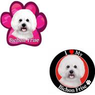 Bundle: Two (2) Bichon Frise Magnets